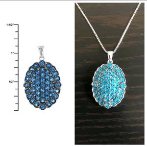 JTV Jewelry - Neon Apatite Pendant & Sterling Silver Necklace